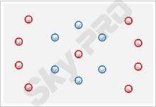 29 - Схема расположения точечных светильников на натяжном потолке