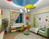 Дизайн натяжного потолока в детской комнате